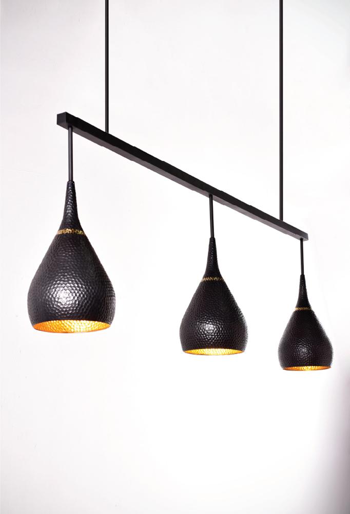 Piment Rouge Lighting Bali - Triple Drop Pendant