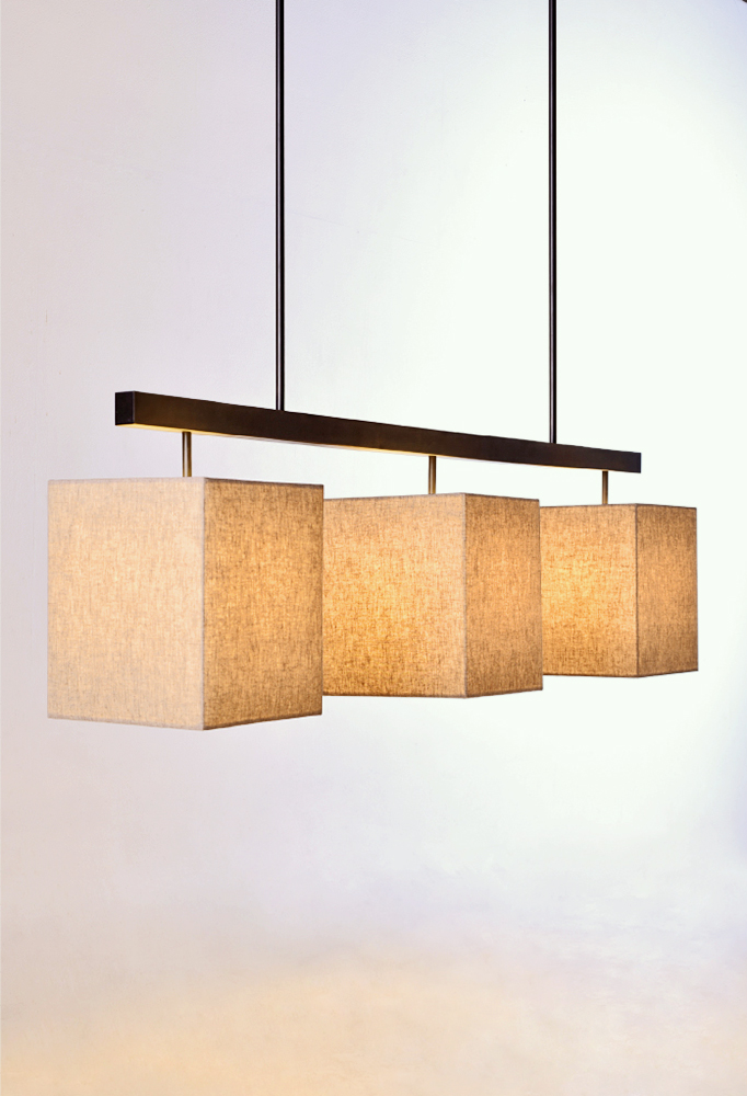 Piment Rouge Lighting Bali - Triple Square Pendant Lamp