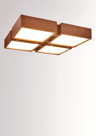 Piment Rouge Lighting Bali - Wooden Quadro Ceiling Lamp