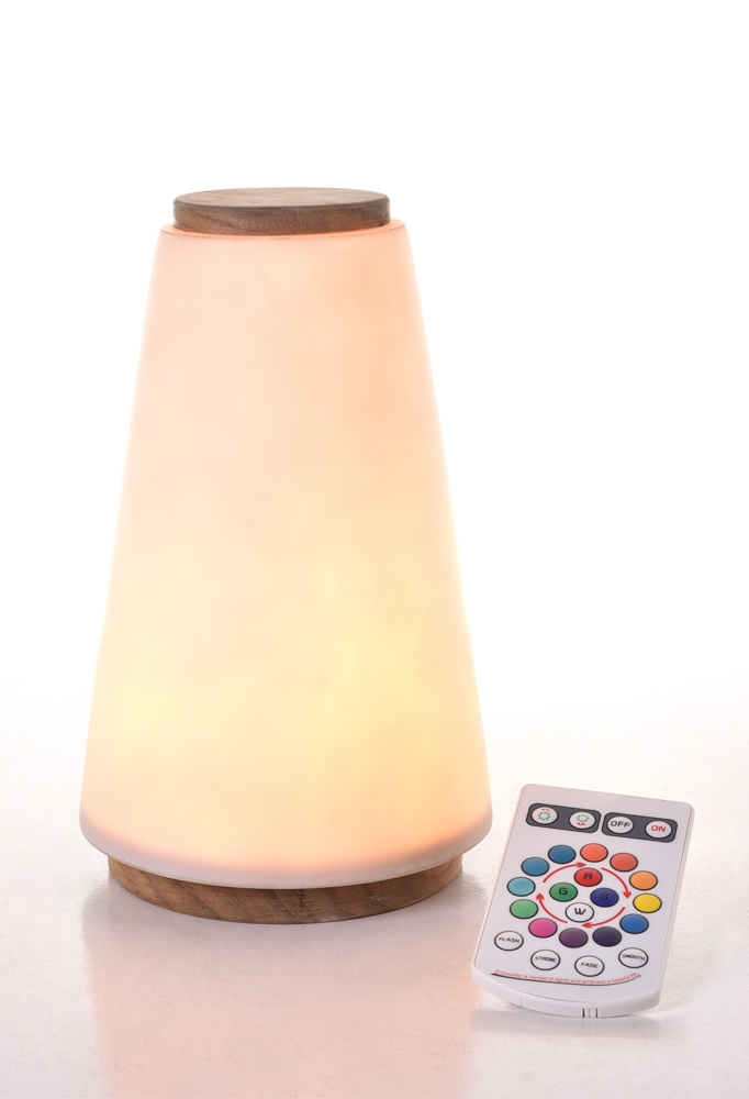 Piment Rouge Lighting Bali - Lula Lamp in Natural Wood Finish