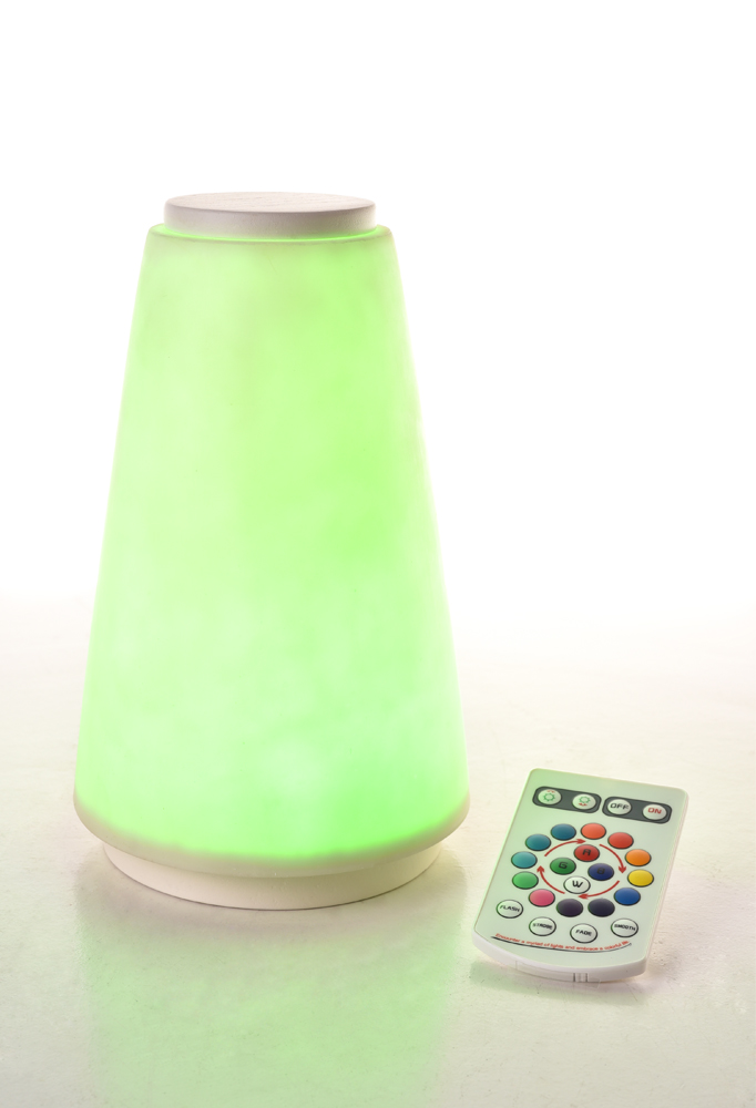 Piment Rouge Lighting Bali - White Lula Lamp in Green Glow