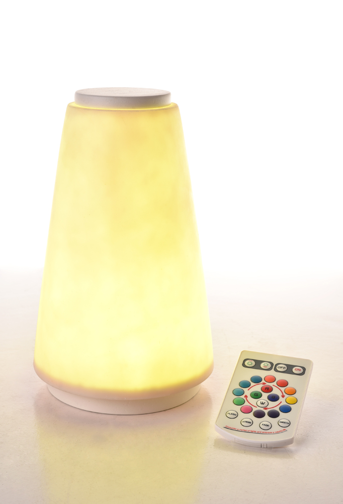 Piment Rouge Lighting Bali - White Lula Lamp in Yellow Glow