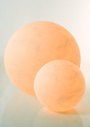 Piment Rouge Lighting Bali - Resin Balls in Orange Glow