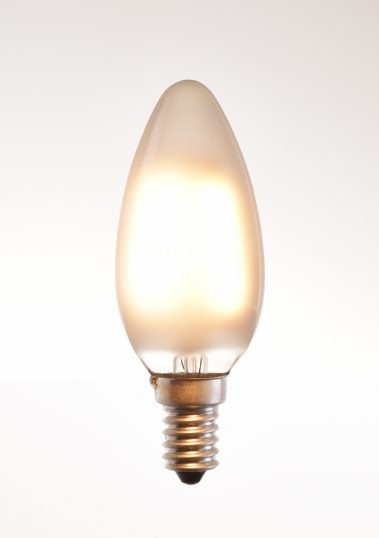 c-35 LED filament bulb 2, 4 watt 2700K warm white 220V E14 frosted by piment rouge lighting bali