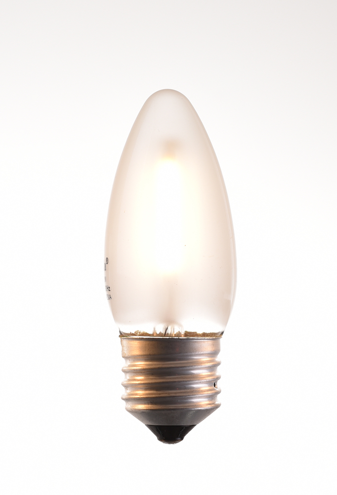 c-35 LED filament bulb 2, 4 watt 2700K warm white 220V E27 frosted by piment rouge lighting bali