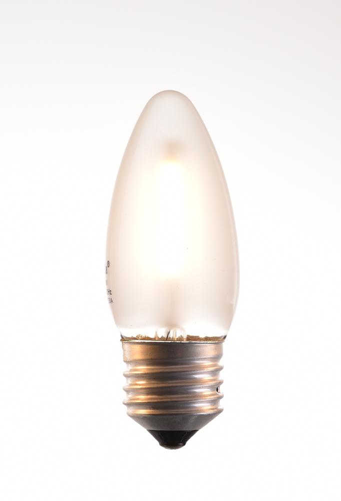 c-35 LED filament bulb 2, 4 watt 2700K warm white 220V E27 frosted by piment rouge lighting bali