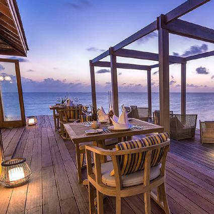 Piment Rouge Custom Lighting at Hurawalhi Resort Maldives