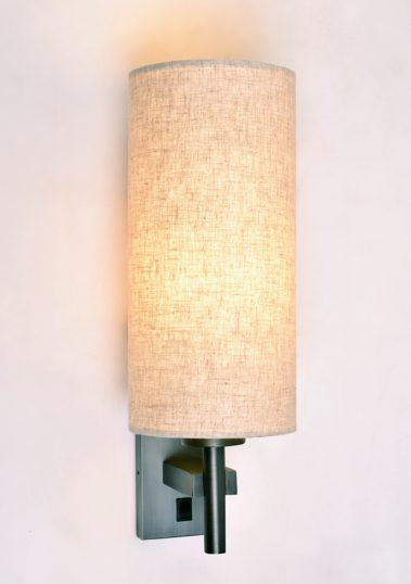 Piment Rouge Lighting Bali - Cyllindrical Linen Sconce