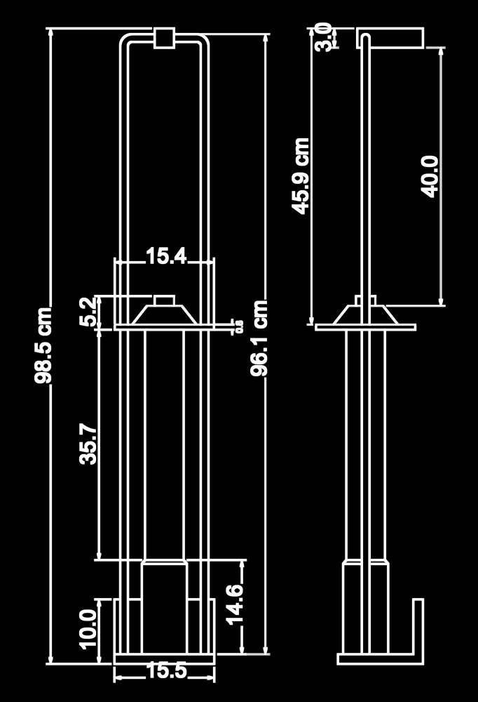 Piment Rouge Lighting Bali - Helena Wall Sconce Technical Drawing