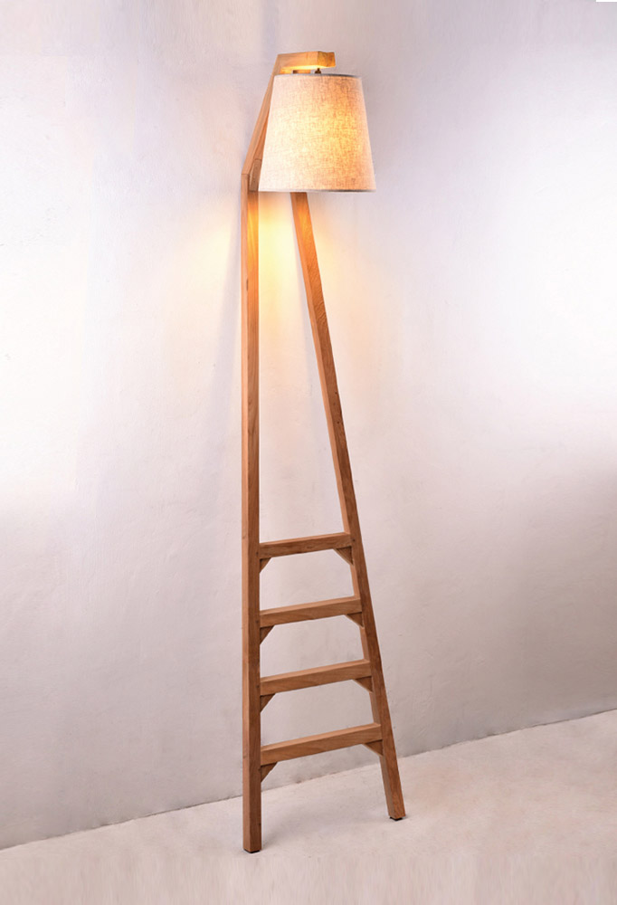 Piment Rouge Lighting Bali - Ladder Lamp in Natural Finish