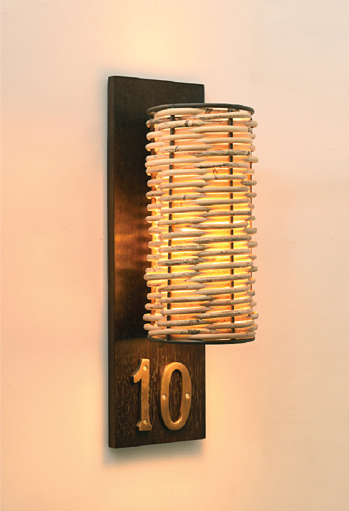 Piment Rouge Lighting Bali - Numbered Javar Sconce