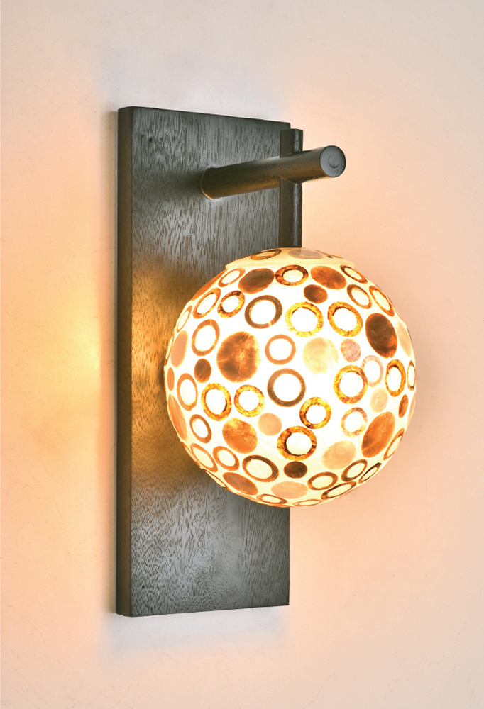 Piment Rouge Lighting Bali - Shell Ball Sconce
