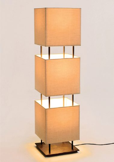 Triple Square Standing Lamp by Piment Rouge Lighting Bali