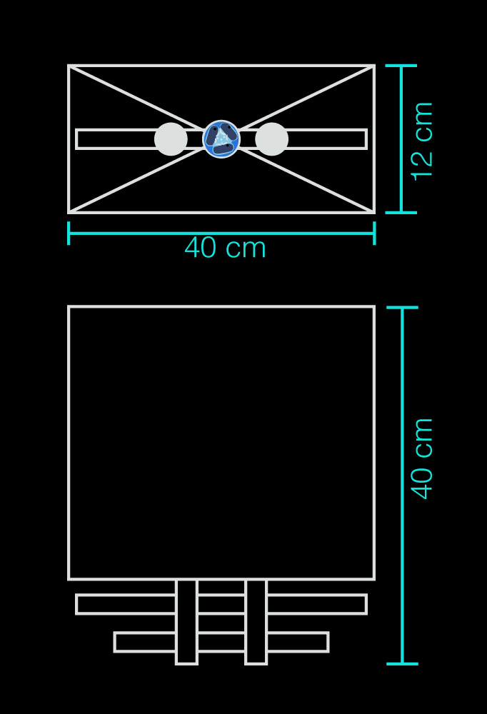 Piment Rouge Lighting Bali - Maori Sconce Technical Drawing