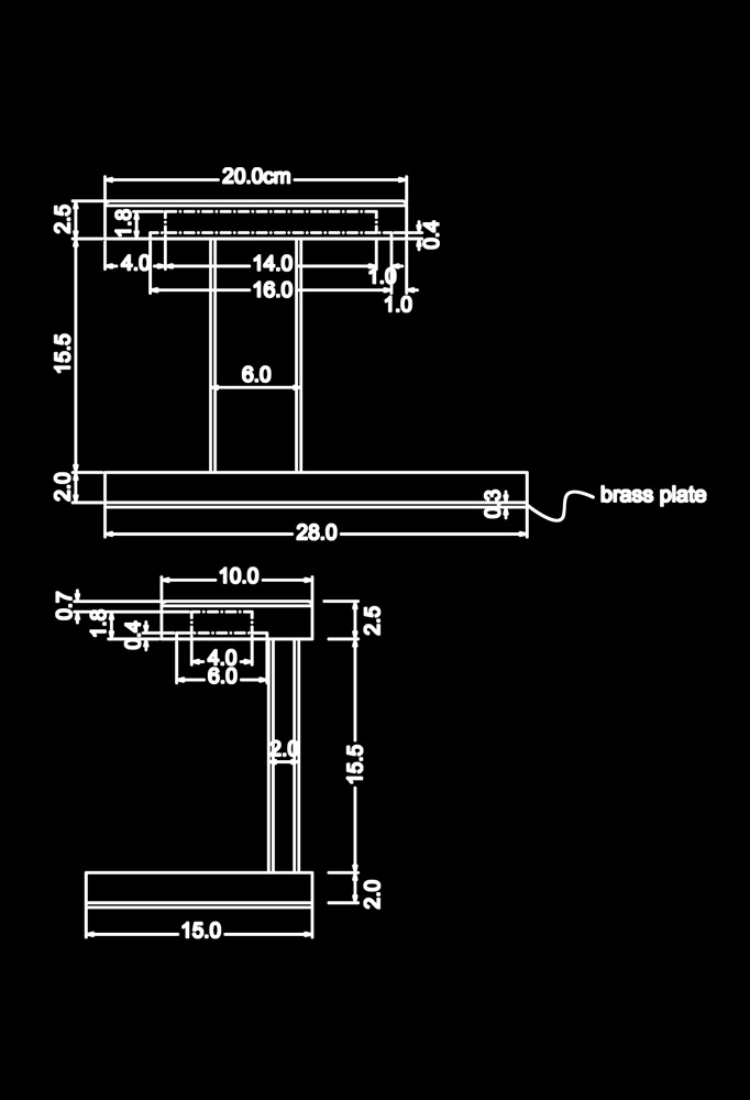 Piment Rouge Lighting Bali - Anya Table Lamp Technical Drawing