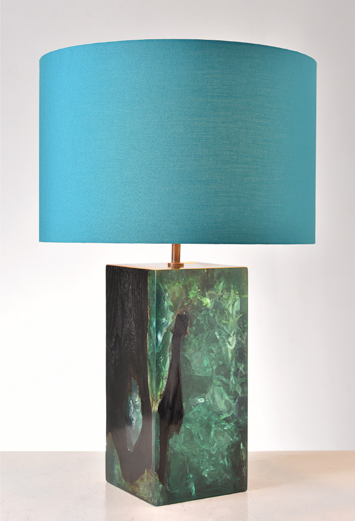 Piment Rouge Lighting Bali - Lewis table lamp in turquoise