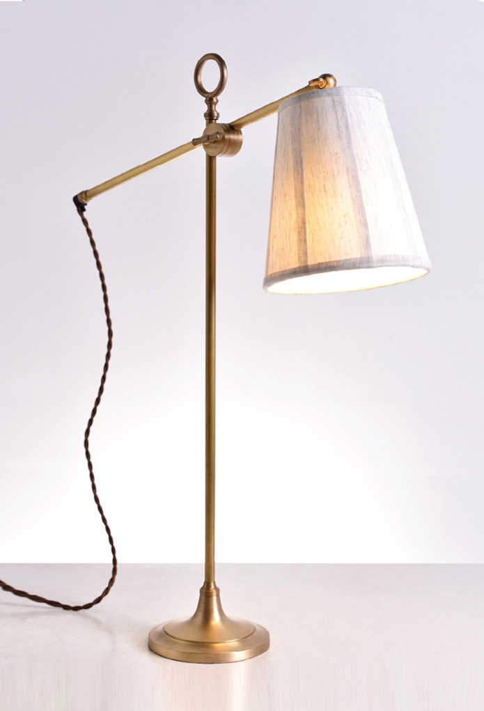 Piment Rouge Lighting Bali - Newton Desk Lamp with Linen Shade