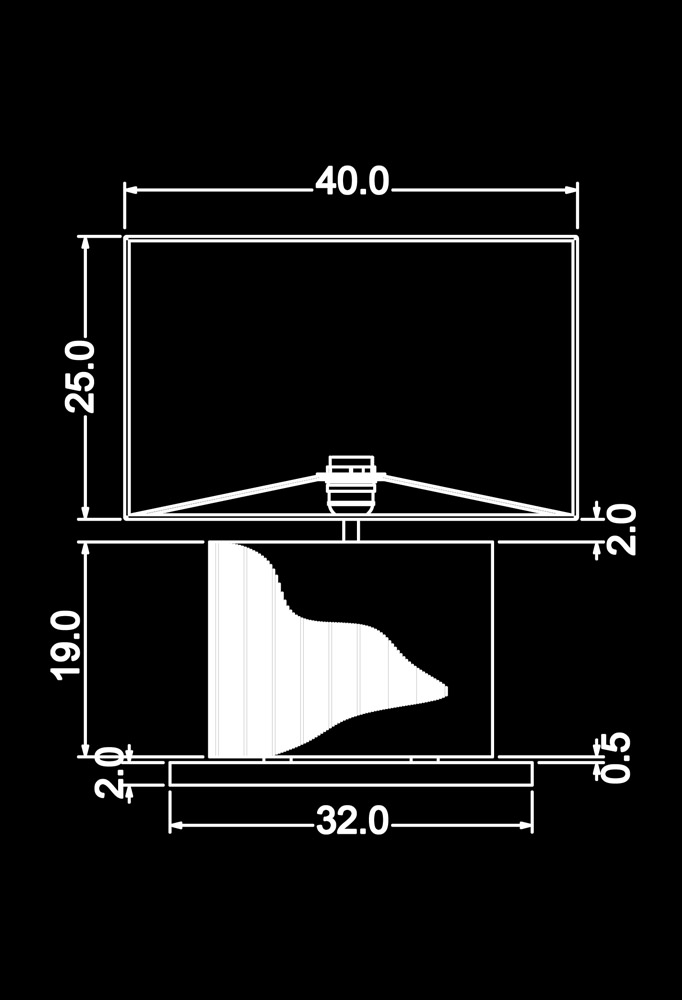 Piment Rouge Lighting Bali - Suar Table Lamp Technical Drawing