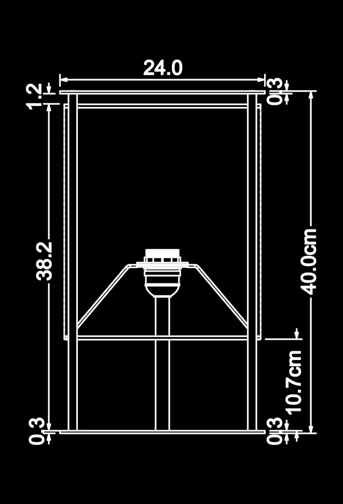 Piment Rouge Lighting Bali - Tollow Table Lamp Technical Drawing