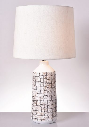 Piment Rouge Lighting Bali - Wilma Table Lamp in White Croco