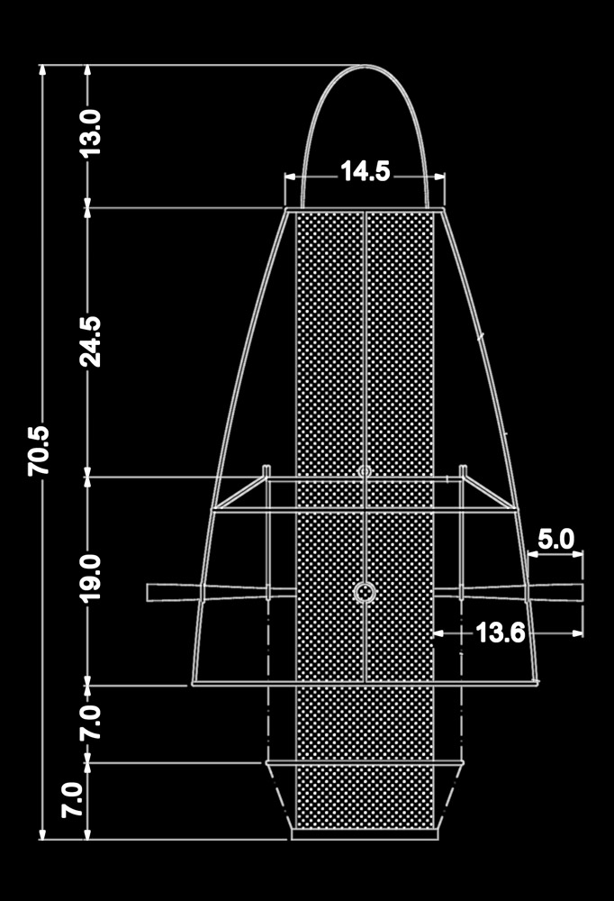 Piment Rouge Lighting Bali - Hana Pendant Lamp Technical Drawing