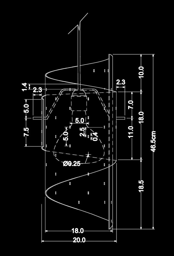 Piment Rouge Lighting Bali - York Pendant Lamp Technical Drawing