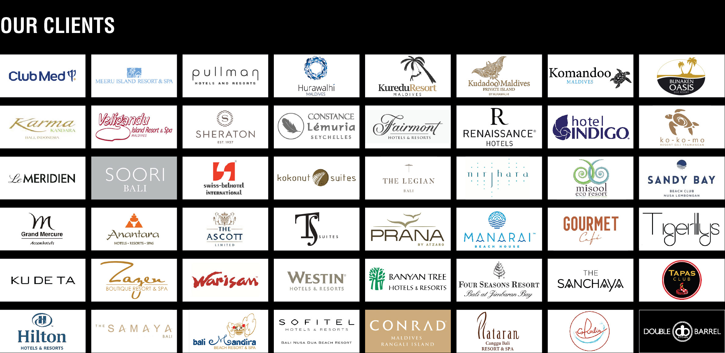 Piment Rouge Lighting Bali Clients --- Logos