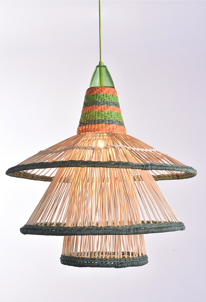 piment rouge custom lighting manufacturer - zulu pendant in green