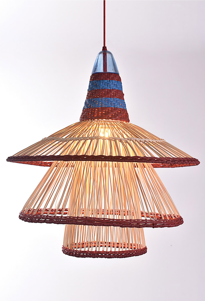 piment rouge custom lighting manufacturer - zulu pendant in red