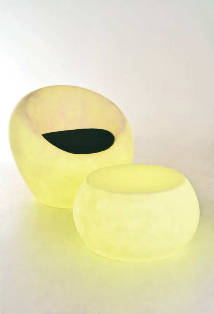 piment rouge custom lighting manufacturer - resin fiberglass chair & table