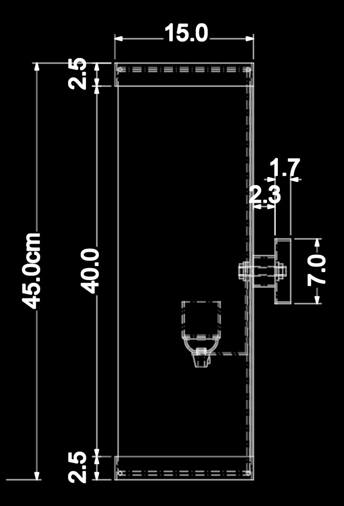 piment rouge custom lighting manufacturer - iona wall sconce technical drawing