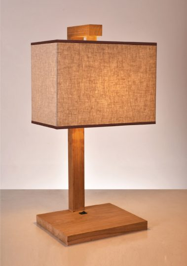 piment rouge custom lighting manufacturer - teakwood prado table lamp in natural finish