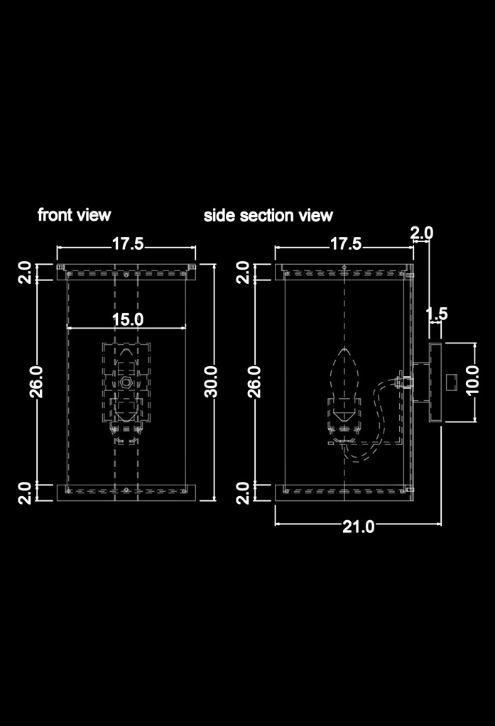 piment rouge custom lighting manufacturer - wooden iona wall sconce technical drawing