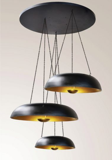 piment rouge custom lighting manufacturer - trio coupola pendant