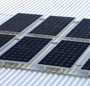piment rouge lighting - installed solar panel on the roof at piment rouge lighting showroom